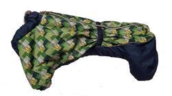 SportDog Комбинезон для таксы, теплый, на меху, морская волна/орнамент, спина 49см