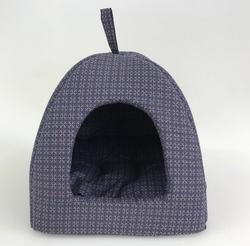 Бобровый дворик Домик лежак для кошек и собак, синий Колизей
