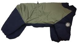 LifeDog Комбинезон для больших пород собак, оливковый/синий, размер 5XL, спина 60см
