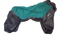 LifeDog Дождевик для больших пород собак, мята/серый, размер 6XL, спина 65см