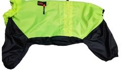 LifeDog Дождевик для немецкой овчарки неон/черный, размер 7XL, спина 75-85см