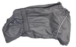LifeDog Дождевик для французского бульдога и мопса, серый, спина 36-38см