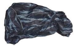 LifeDog Дождевик для французского бульдога и мопса, камуфляж синий, спина 36-38см