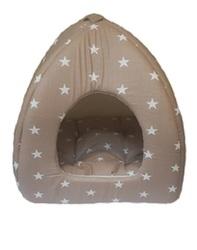 ZooTrend Домик -Лежак Норка коричневая, размер 40х40х45см