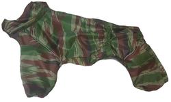 ZooTrend Дождевик для средних пород собак, камуфляж зеленый, размер 2XL, спина 40-42см