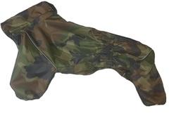 ZooTrend Дождевик для средних пород собак, камуфляж коричневый, размер 2XL, спина 40-42см