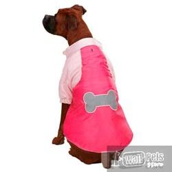 АНТ Куртка для крупных собак, розовая Косточка, размер XL