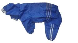 АНТ DefPet Дождевик-трансформер для больших пород собак, синий, размер L