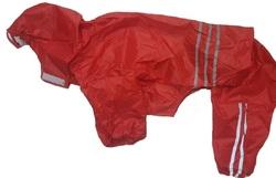 АНТ DefPet Дождевик-трансформер для больших пород собак, красный, размер L, спина 65-69см
