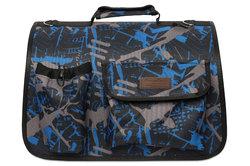 Lion Сумка-переноска Премиум с карманами, синяя/черная №4, размер 50х31х30см