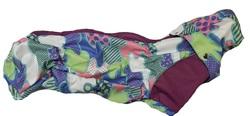 ZooAvtoritet Дождевик для таксы из мембранной ткани, мультиколор, размер ТС1, спина 41-43см
