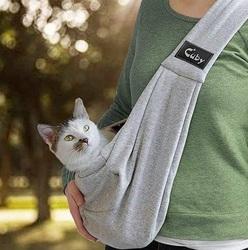 Al1 Слинг для собак до 5,0 кг, серый/клетка трикотаж