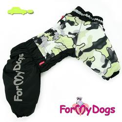 ForMyDogs Комбинезон для собак черно/желтый камуфляж для мальчиков, размер D2, D3