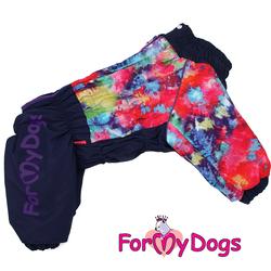 ForMyDogs Комбинезон для собак фиолетовый/мультиколор для девочек, размер С1