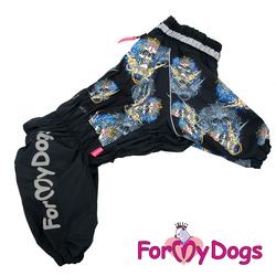 ForMyDogs Комбинезон для собак черный для мальчиков, размер С3