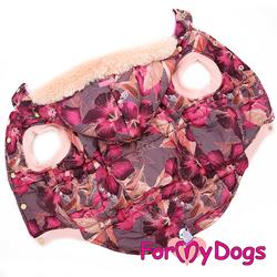 ForMyDogs Куртка для больших собак бордо, размер С2