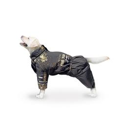 ZooTrend Комбинезон для больших пород собак, черный/буквы, размер 7XL, спина 80см