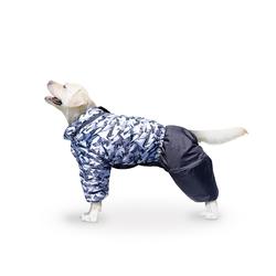 ZooTrend Комбинезон для крупных пород собак, черный/серый, размер 7XL, спина 80см