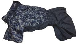 ZooTrend Комбинезон для крупных пород собак, синий камуфляж/синий, размер 7XL, спина 80см