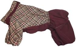 ZooTrend Комбинезон для крупных пород собак, бордо/клетка, размер 7XL, спина 80см