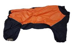 LifeDog Комбинезон для средних собак, черно/оранжевый, размер 3XL, спина 41-47см