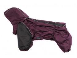 ZooAvtoritet Дождевик для французского бульдога фиолетовый, размер ФР1, ФР2