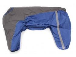 ZooAvtoritet Комбинезон для крупных собак синий/серый, размер 8XL, спина 75см