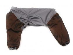 Комбинезон для больших собак коричневый/серый, размер 6XL, спина 65см
