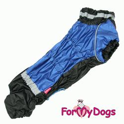 ForMyDogs Комбинезон для такс черный/синий для мальчика, размер ТМ2