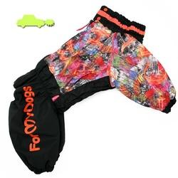 ForMyDogs Комбинезон для собак черно/оранжевый для девочек, размер С2, D3