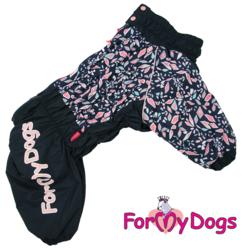 ForMyDogs Комбинезон для крупных собак, синий, модель для девочек, размер D1, D2