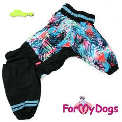 ForMyDogs Комбинезон для больших собак черно/голубой, размер С1, D2 модель для мальчиков