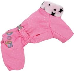 ForMyDogs Комбинезон для маленьких собак розовый, размер №18, модель для девочек