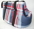 Бобровый дворик Сумка-переноска для собак, цвет шотландка синяя