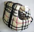 Бобровый дворик Сумка-переноска для собак, шотландка бежевая