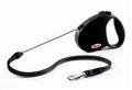 Flexi Рулетка Comfort 5m черная для маленьких собак весом примерно до 12 кг