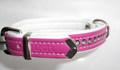 Hunter Ошейник Modern Art Luxus 32/11, 24-29 см, розовый/белый с кристаллами Swarovski