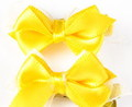 """ForMyDogs Зажим для собак """"Бантик"""" желтый шелк 3,0см"""