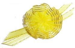 DOGMAN Бантик для собак, желтый, 2,0см, на латексной резинке.
