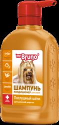 """М.Бруно Шампунь №2 """"Послушный шелк"""" для собак 350мл"""