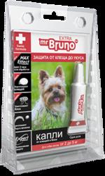 М.Бруно Капли инсектоакарицидные Eхtra для собак от 2 до 5кг/ 0,5мл с 5-ти месячного возраста