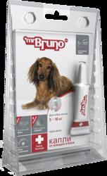 М.Бруно Капли Плюс инсектоакарицидные для собак до 5-10кг/0,8мл с 3-х месячного возраста