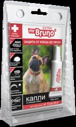 М.Бруно Капли инсектоакарицидные Eхtra для собак от 10 до 20кг/ 1,5мл с 5-ти месячного возраста