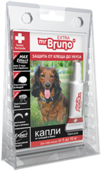 М.Бруно Капли инсектоакарицидные Eхtra для собак от 5 до 10кг/ 0,8мл с 5-ти месячного возраста