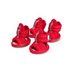 Al1 Сандалии размер №2, №3, цвет красный, текстиль