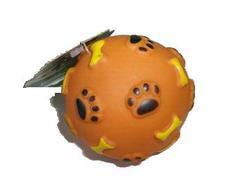 """Beeztees Игрушка для собак """"Мячик с отпечатками лап и косточек"""", винил 8см"""