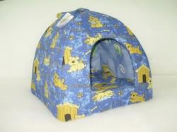 """Бобровый дворик Домик лежак для кошек и собак """"Счастливый пес"""", синий, №1, №2"""