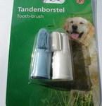 Beeztees Зубная щетка для собак резиновая, 2шт. в упаковке, 5,5см