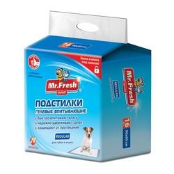 Mr.Fresh Пеленки для собак Regular 90 х 60 см, для ежедневного применения, 16шт.