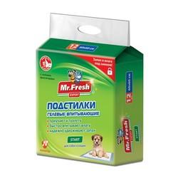 Mr.Fresh Пеленки для собак Start 60 х 60 см, в упаковке 12шт. для приучения к месту
